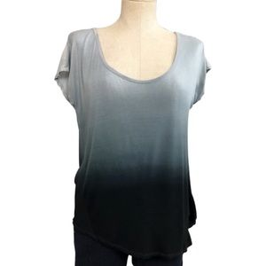 Sparkle & Fade Gray Ombre Tee Size S